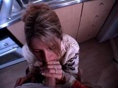 Семяизвержение, Сперма на лице, На кухне, Мамочка