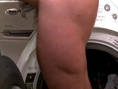 DILF muscular ass before sucking of sperm