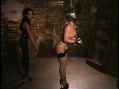 Latex Godess & her Maid recive a unique Package