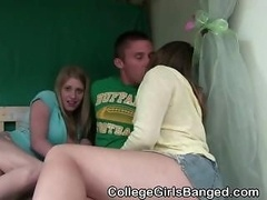 College Non-pro Girls Give a blowjob And Fucked At A Party
