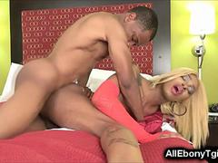 BBC Shemale Gets Fucked by Black!