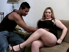 Real bbw Bangs Large Knob