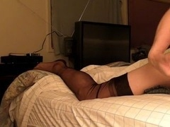 Stockings and moreover bed humping