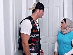 Julianna Vega teaches her slutty Arab daughter and her young boyfriend