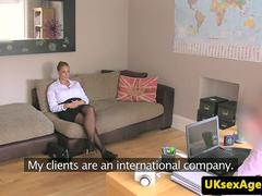 Bigtitted casting brit railed at audition