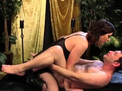 Mistress Cherry Torn pegs submissive guy