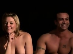 Sexy swingers having fun naked