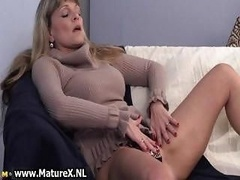 Older mature blond womain with first-class part4