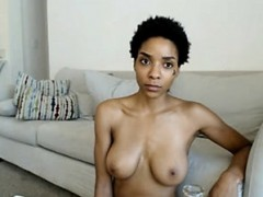 Woman with a fit body shows her tits and ass