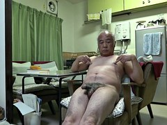 Japanese old man of good feelings even touching the nipple