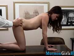 Teen missionary rubs cunt