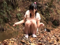 Slender Asian girl with sexy legs delivers an awesome blowj