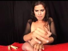 Amazing femdom handjob session