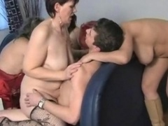 Four aroused aged wifes sharing this