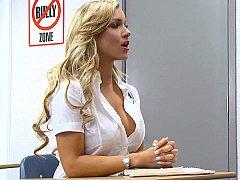 Blonde, Sucer une bite, Mixte, Élève, Se déshabiller, Étudiant, Professeur, Adolescente
