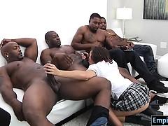 Mamada, Morena, Grupo, Hd, Interracial