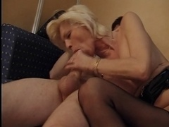 FRENCH GRANNY EVA DESTROYED BY A Large WHITE Love pole (ANAL)