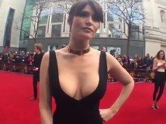 Gemma Arterton in a VERY slutty dress