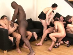 Group sex and a double penetration this two c