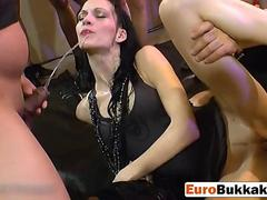 Kinky slut loves to drink fresh yellow pee from different guys