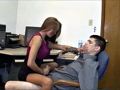 Cfnm, Spermaladung, Weibliche domination, Handjob, Sekretärin