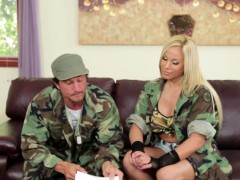 Busty army pornstar fuck
