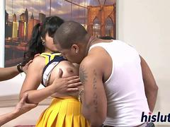 Interracial gangbang session with chubby Mika Tan