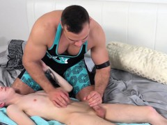 Homos Danny Chris and Jonathan Strake get it on in bed