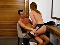 horny hairdresser shauna skye gives special treatment for her customer