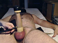 venus 2000 milker milking my hung alpha Bear
