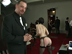 naughty slaves prove their obedience to the house