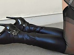 Black Knickers And Boots