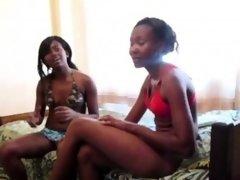 Black girls fingering each other