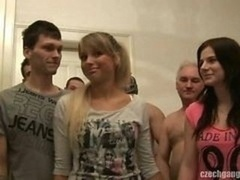 Exgf & HER SISTER GET FUCKED AT CZECH GANG Make love