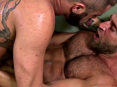 Gay dudes muscles to fuck and swap some cum