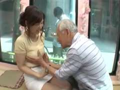 Candid youthful japan chick be seduced by old guy