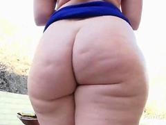 Bitch on heels teasing pussy and big ass
