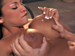 Audrey Bitoni big load on tits