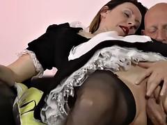 stockings brit creampied