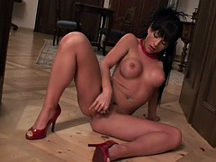 Sexy Striptease And Action With Dildo