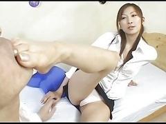 Japanese Chihiro Hara Footjob