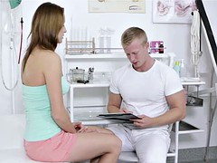 Young doctor seduced teen cute patient