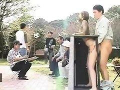 Amateur, Asiático, Al aire libre, Público