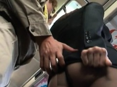 Chick dozes off and gets completely used in public transport