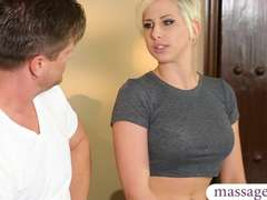Booby ash-blonde client Dylan Phoenix nailed by nasty masseuse