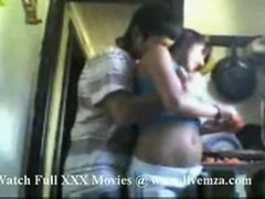 Indian Desi Chick Getting down and dirty With Popular In Kitchen