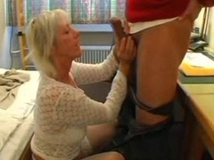 SEXY MOM 74 blonde grown-up with a immature dude