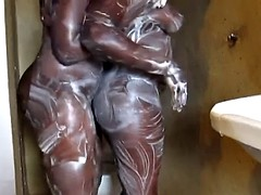 Soapy black babes from Africa want to make each other cum