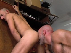 Gay ripped inmate pounded