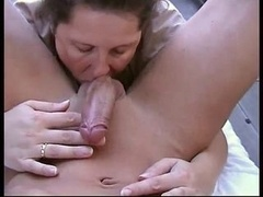 sexy old inexperienced female getting down and dirty on balcony